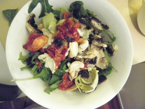 variety of fresh vegetables in salad