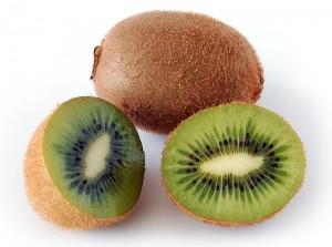 cut and whole kiwi fruits