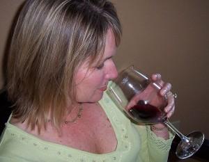 smelling wine