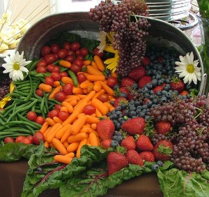 wedding banquet of fruit and vegetables