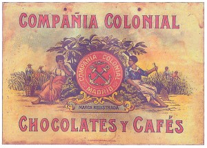 Spanish 20th Century print commercial for chocolates