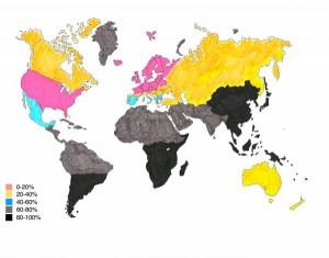 lactose intolerance world map