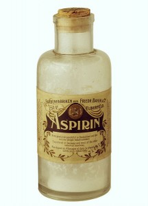 Retro aspirin bottle
