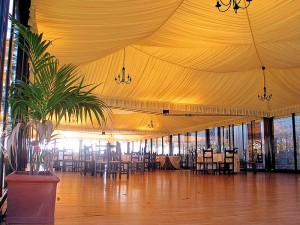 restaurant with canopy
